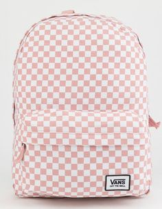 df9a68abcd7 VANS Realm Classic Pink Checker Backpack  cutetrendybackpacks