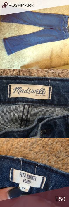 Madewell Flea Market Flare size 28 Only worn a handful of times, super comfortable high wasted flare. Adorable! Madewell Jeans Flare & Wide Leg