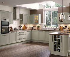 New Kitchen Grey Cupboards Breakfast Bars Ideas Howdens Kitchens, Grey Kitchens, Kitchen Cabinetry, Kitchen Flooring, Kitchen Worktop, Kitchen Units, Wood Flooring, Kitchen Ideas, Shaker Style Kitchens