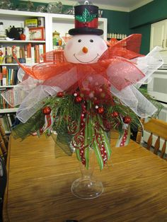 Snowman Table decoration