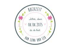 24 persönliche Aufkleber Hochzeit Sticker Blumen von Lottes Laden auf DaWanda.com