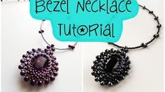 beaded necklace tutorial - YouTube