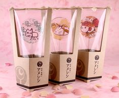 Kawaii Dessert, Japanese Sweets, Food Packaging, Food Design, Pretty Cool, Food Art, Candles, Snacks, Cookies