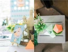 Jaime's Geometric Fox Themed Party – Table centerpiece Party Table Centerpieces, Table Decorations, Geometric Fox, Party Themes, Party Ideas, Birthday Table, Home Decor, Fiesta Centerpieces, Decoration Home