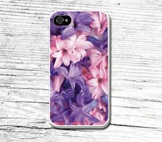 Purple flower iPhone casePersonalized iPhone 6 by Caseby on Etsy