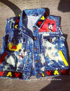 Check out this item in my Etsy shop https://www.etsy.com/listing/271007820/mickey-denim-vestmickey-mouse