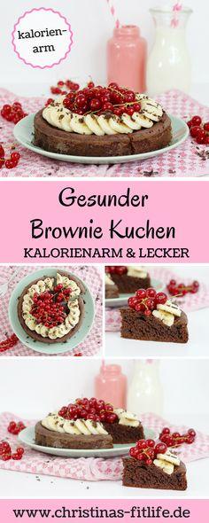 Kalorienarmer Brownie Kuchen mit nur 336 kcal pro halben Kuchen!