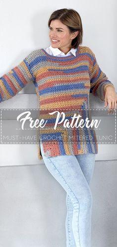 Must-Have Crochet Mitered Tunic – Free Crochet Pattern – Crochet Love