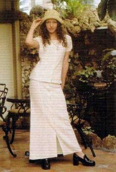 #Damen #Set aus #Rock und #Bluse, #ökologische #Pima #Baumwolle
