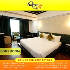 ‪#‎HOTEL‬ ‪#‎SAFFRON‬ LEAF LOBBY... To know more visit www.saffronleaf.com Or Call Us at: +91 135-2521400