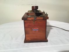 Marvel Telegraph Equipment Vintage Sold By Sears Wood Box Appears Complete