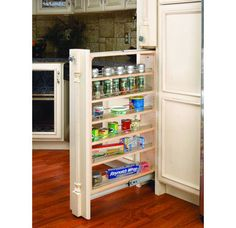 "Rev-A-Shelf 432-TF45-6C 6"" Wide Filler Pull-Out with Adjustable Shelves."