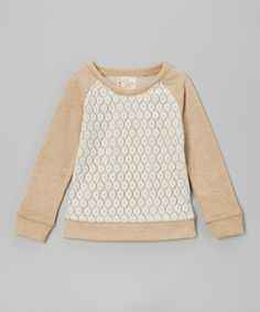 Lace Sweatshirt. Would be cute for the winter dress up plain sweatshirts.