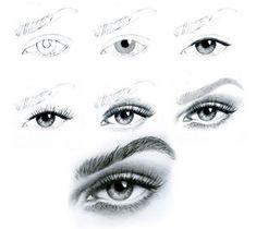 рисунки для срисовки глаз человека фото