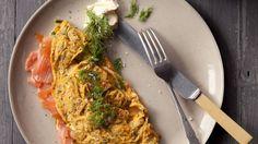 The classic omlete: salmon omelet.