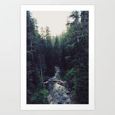 Oregon x Rainier Creek Art Print by Leah Flores - $19.00