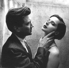 Filmmaker David Lynch, with Isabella Rossellini.