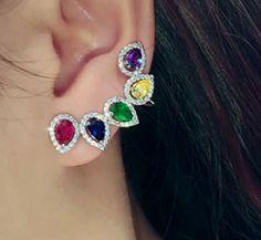 Candy Diamond Halo Ear Cuffs