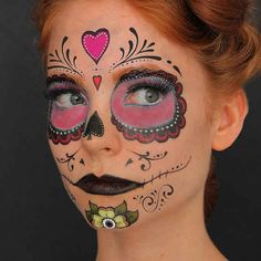 Sugar Skull Halloween Costume, Theme Halloween, Halloween Party Costumes, Fall Halloween, Halloween Makeup, Costume Ideas, Sugar Skull Face Paint, Sugar Skull Makeup, Sugar Scull