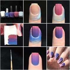 Photo Tutorial for my gradient nails with white chevron outline! (Details in comments) Post with 0 votes and 5509 views. Photo Tutorial for my gradient nails with white chevron outline! Nails Yellow, Pink Ombre Nails, Cute Nails, Pretty Nails, Gradient Nails Tutorial, Nail Gradient, Marble Nails Tutorial, Diy Ongles, How To Do Ombre