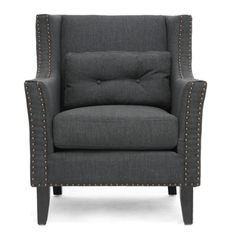 @Overstock.com - Albany Dark Gray Linen Modern Lounge Chair - This modern club chair marries simplicity and comfort for a sophisticated update to your living space. Durable, alluring dark charcoal grey linen-blend fabric upholsters this comfortable foam-filled designer living room chair.  http://www.overstock.com/Home-Garden/Albany-Dark-Gray-Linen-Modern-Lounge-Chair/7123124/product.html?CID=214117 $458.99