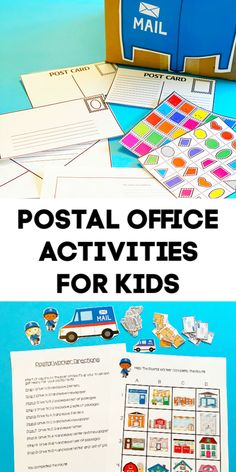 Post Office Activities for Kids~ Post office coordinate grid math & letter writing for kids #mathgame #postoffice #communityhelpers