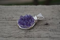 wire wrapping raw amethyst pendant    Wire Wrapped Pendant Raw Purple Amethyst by ...   Design inspiration
