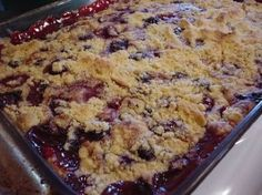 Blueberry Dump Cake-Weight Watchers
