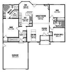 Ranch Floor Plan - Main Floor Plan Plan #316-238