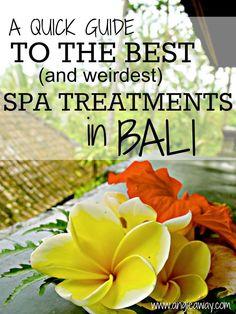 The best & weirdest spa treatments in Bali, Indonesia. From Ubud to Seminyak, Bali should be on your bucket list! #Bali #Spa #Honeymoon #Travel