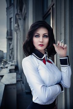 Better than the first one, in my opinion. Elizabeth - Bioshock Infinite (Burial at Sea DLC) Cosplay by Verisa Cosplay Outfits, Cosplay Girls, Cosplay Costumes, Anime Cosplay, Jamie Chung, Amazing Cosplay, Best Cosplay, Deviantart Photography, Bioshock Elizabeth