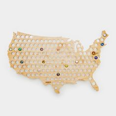 Can I get one of Canada! - USA Beer Cap Map - Cool Material