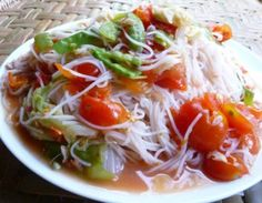 Rice Stick Noodles Salad.