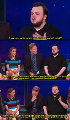 I absolutely love John Bradley West. A sweetie on-screen and hilarious off-screen.