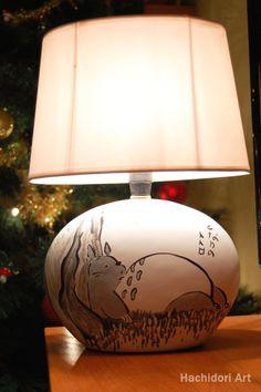 Lampara de Totoro Ghibli por HachidoriArt en Etsy http://hachidoriart.etsy.com #ghibli #totoro