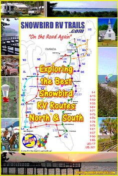 Locating the Best RV Routes - RV Campgrounds - Restaurants - Workmping for Snowbirds & other RVers Rv Travel, Travel Maps, Pops Restaurant, Rv Motorhomes, East Coast Travel, Rv Campgrounds, Front Door Colors, Road Trip Usa, Campsite