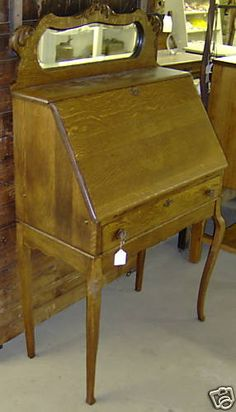 Antique Quartersawn Oak Larkin's Ladies Dropfront Desk