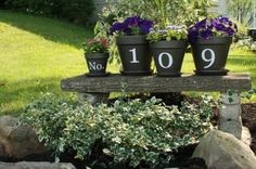 flower pots for house number