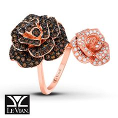 LeVian Ring 1 3/4 carats tw Diamonds 14K Strawberry Gold. I NEED THIS RING!