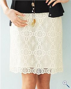 eyelet skirt!  Wonder if I could find a pattern for an eyelet skirt.  Can only find petites in these.  Boooo.