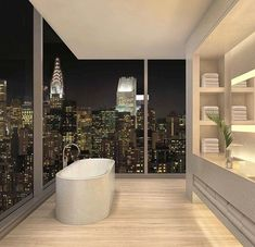New York pent house! How awesome is the view - Bigger Luxury #luxurypenthouse