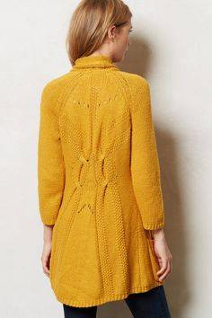 Shawl Collar Cardi - anthropologie.com. Love the details in the back!