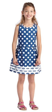 {Summer Sunwashed Dots Outfit from Fab Kids} *Love polka-dots