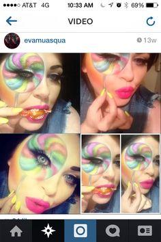 Lollipop makeup