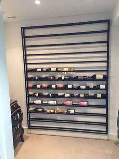 Producten | Stalenwijnrekken Wine Rack Wall, Wine Wall, Large Wine Racks, Wine Cellar Basement, Wine Storage Cabinets, Home Wine Cellars, Outside Bars, Ideas Hogar, Wine And Liquor