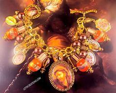 """Sacrifice"" Catholic, Jesus, Saints Religious Medals Handmade Charm Bracelet #Handmade #HolyMedalsPendantCharmCameo #jesuschrist #catholic #religious #jewelry www.letyscreations.com"