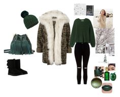 """Untitled #23"" by nusreta-bjelic ❤ liked on Polyvore featuring River Island, New Look, UGG, Miss Selfridge, Clive Christian, Repeat Cashmere, Shibuya and Kaisercraft"