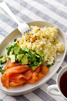 Keto Egg Butter with Salmon and Avocado — Recipe — Diet Doctor - This is wh. - Keto Egg Butter with Salmon and Avocado — Recipe — Diet Doctor – This is what we call a brea - Diet Recipes, Cooking Recipes, Healthy Recipes, Diet Meals, Paleo Meals, Keto Foods, Egg Recipes, Comidas Light, Healthy Snacks