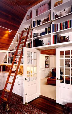love the library ladders