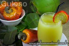 Suco de Caju com Água de Coco » Bebidas, Receitas Saudáveis » Guloso e Saudável
